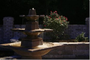 water feature tiered bowls